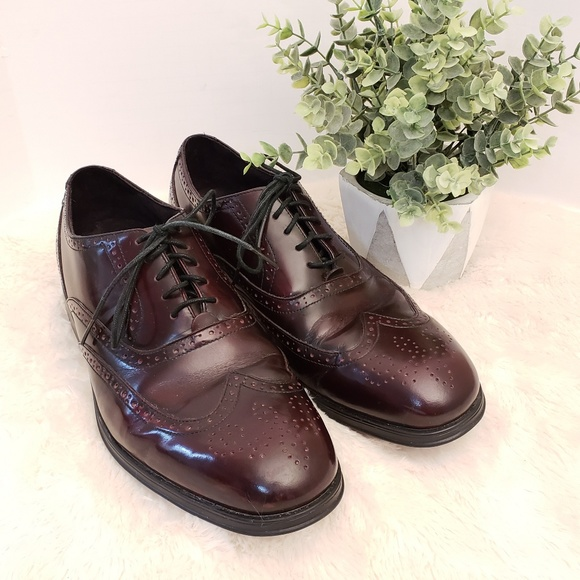 Rockport Burgundy Leather Wingtip Oxford Shoes 95